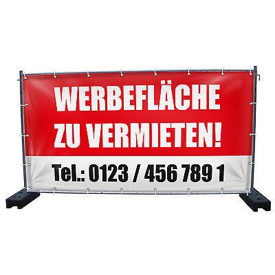 GroBartig Werbefläche Zu Vermieten Bauzaunbanner Baustellenbanner Banner Plane