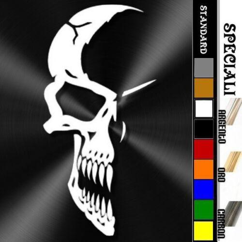 adesivo sticker SKULL IN THE SHADOWS teschio nell/'ombra prespaziato decal 18cm
