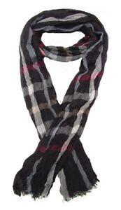 Foulard-cheche-echarpe-pour-homme-noir-raye-multicolore-180-x-60-cm