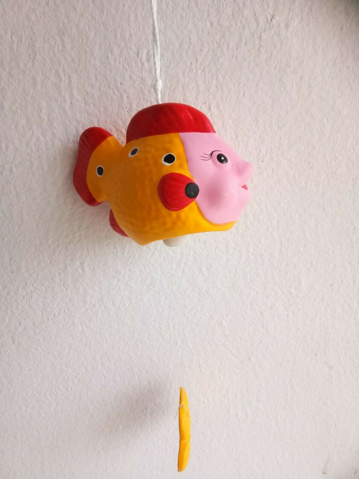 Yellow Fish Wind Chime Mobile kinetic Hanging Eco Friendly Baby Nursery Décor