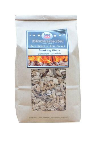 """Wood Puces Räucherholz smoker puces /""""Chêne/"""" 450 G Räucherchips Bbq"""