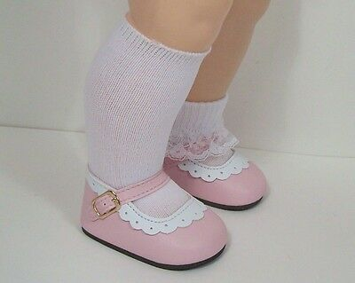 """BUBBLEGUM PINK Classic Custom Fit Doll Shoes For 22/"""" Saucy Walker Dolls Debs"""