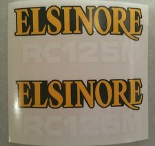 Honda Works Elsinore RC125M side panel decal sticker RC CR 125 CR125M 1976 1977