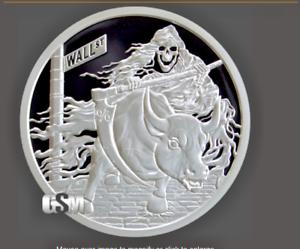 2019 Silver Shield INVERTED RATE REAPER 1 oz Silver PROOF /& COA /& BOX IN STOCK!