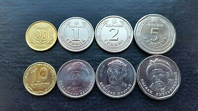 Ukraine Mint Set 10 50 Kopecks 1 2 5 10 10 Hryven 2019 UNC