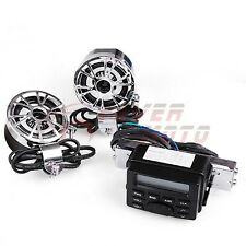 Motorcycle Audio Player iPod Radio Sound System Stereo w/Speaker For Harley FM