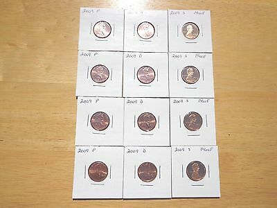 1990 1991 1992-1995 1996 1997 1998 1999 S Lincoln Cent Penny Proof 10 Coin Set
