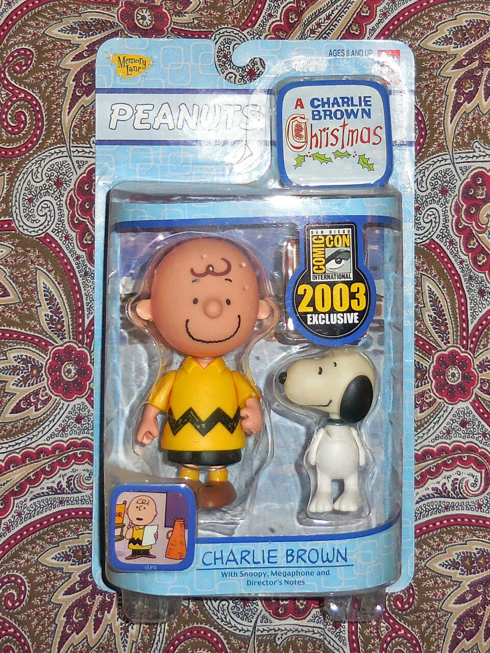 PEANUTS PEANUTS PEANUTS - CHARLIE BROWN - CHRISTMAS - SDCC 2003 EXCLUSIVE - MEMORY LANE - LOOK  6f8f13