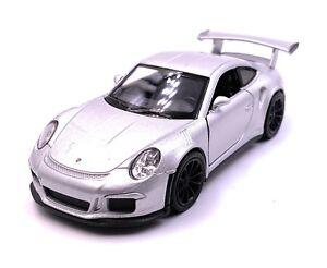 Porsche-GT3-Rs-Auto-Sportive-Modellino-Auto-Auto-Argento-Scala-1-3-4-Licenza