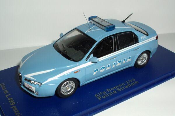 - Polizia Italia - Alfa Romeo 159 - 2005 - Police - M4 1/43 Display Box Vitrine