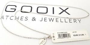 GOOIX-Silber-925-Damen-Halskette-Kette-Ankerkette-Karreekette-42-cm-lang-NEU-186
