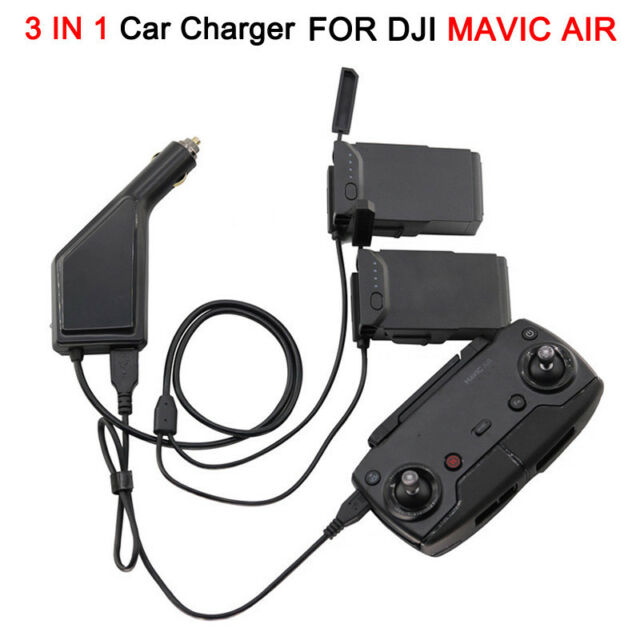 3 in 1 Car Charger Battery Remote Control USB Charging for DJI MAVIC Air Parts