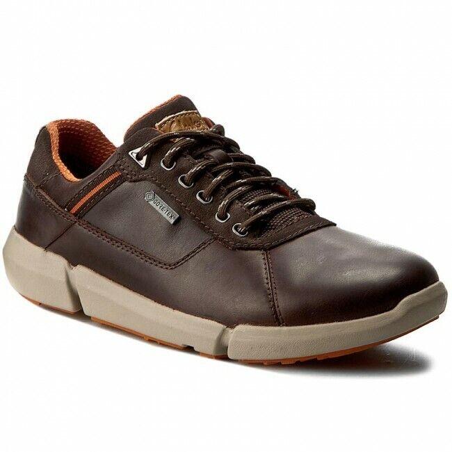 Clarks Herren Triman Lo GTX Ebenholz Lea Trendy & Smart UK 9,10, 11 G