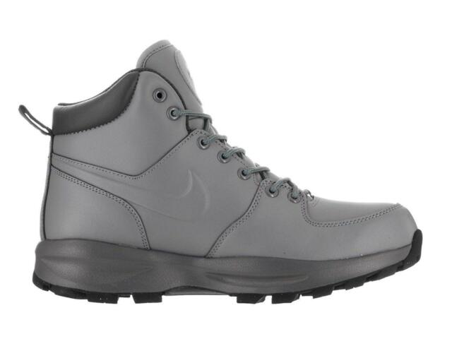 check out 6042f a8bdc Mens NIKE MANOA Cool Grey Leather Trainers Boots 472780 002