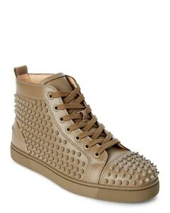 d23a37cbbea3 100% AUTH NEW MEN CHRISTIAN LOUBOUTIN LOUIS SPIKE HIGH TOP SNEAKERS ...
