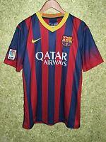 BARCELONA SPAIN 2013 2014 FOOTBALL SOCCER HOME SHIRT JERSEY NIKE ORIGINAL SIZE L