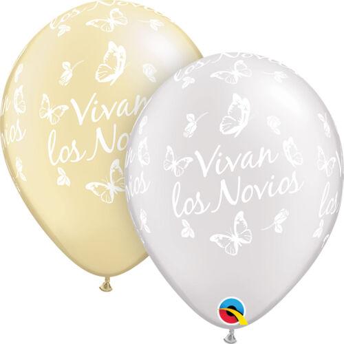 Spanish Sprache latex-foil Qualatex Luftballons Feliz Cumpleanos Vivan los
