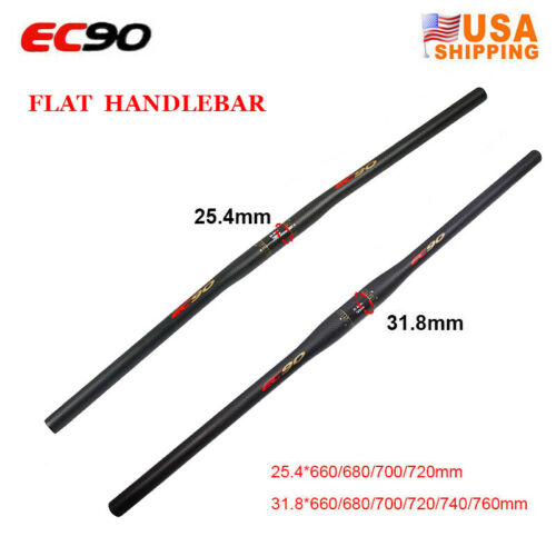 EC90 Carbon MTB Bike Handlebar 31.8//25.4*660-760mm Flat Riser Bar Bicycle Parts