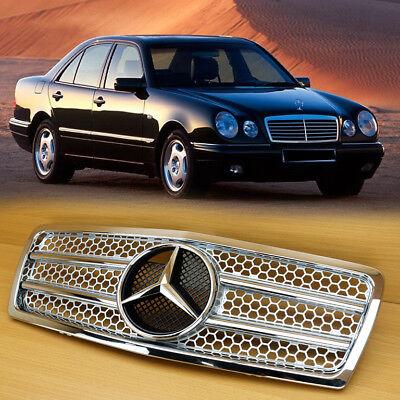 Pre-Facelift E300 E320 E430 1995-1999 For M-Benz W210 Silver Chrome Front Grille