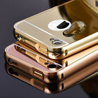 For iPhone 4 4S Luxury Ultra-Thin Aluminum Metal Bumper Mirror Case Back Cover