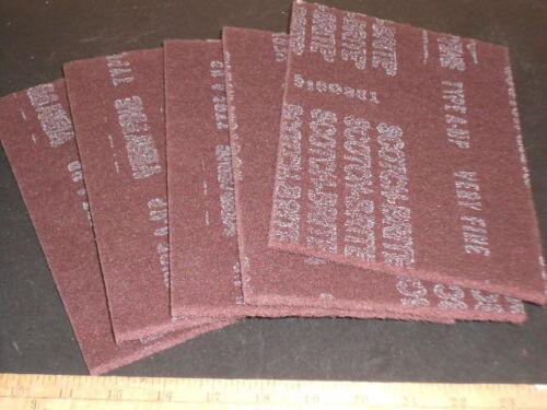 3M SCOTCHBRITE 7447 MAROON PADS 6X9 SCOURING-FINISHING 5 PADS