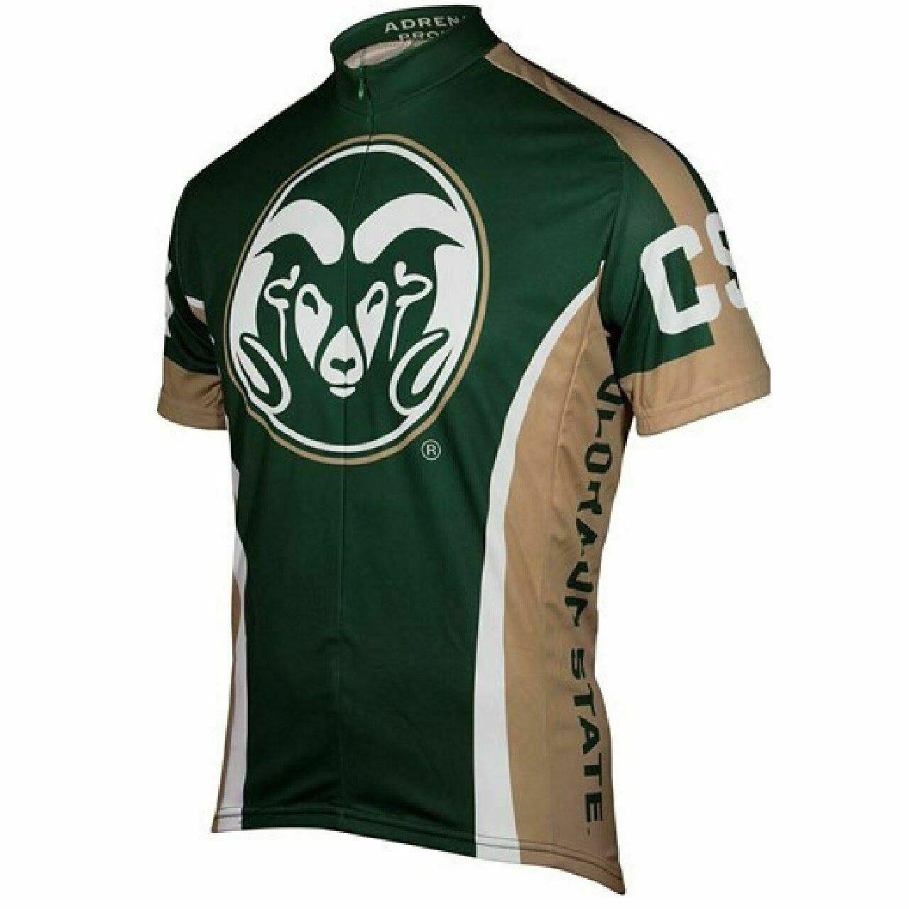 Adrenaline Promo kleurado State University College 3 4 zip mannen's Cycling Jersey
