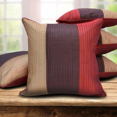 Czar Home Designer Striped MultiColor Cushion Covers Set of 5 (16x16 inches)