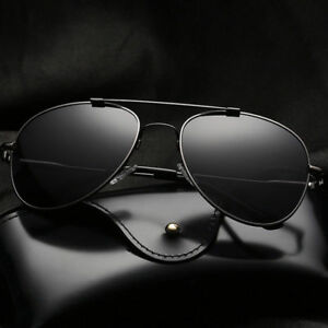 d21dd3275a18 LE Men s Stainless Steel Polarized Sunglasses Aviator Retro Frog ...