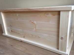 Details About Bespoke Size Large Size Wooden Toy Boxchest Handmade Pine Ottoman Safety Hinge