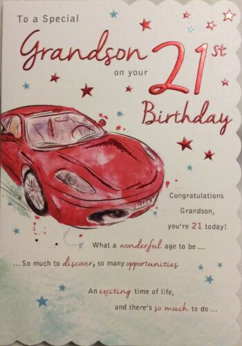 GRANDSON 21st BIRTHDAY CARD