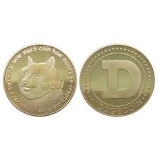 1x Dogecoin(doge) Cryptocoin Gold Plated- Doge Collective for sale