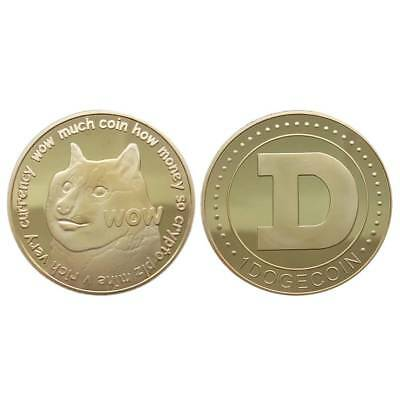 DOGE CryptoCoin Gold Plated collectible Commemorative Free Ship 2018 Dogecoin