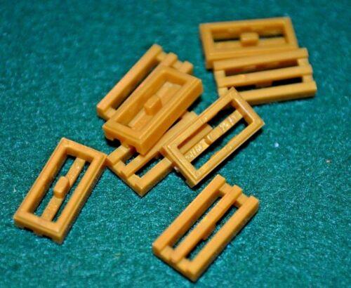 8 ~ 1x2 Gold Tiles w// Slots Grill Bricks ~ Brick ~ New Lego Bricks ~