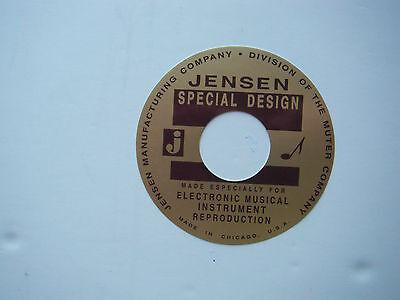 """Jensen Speaker Label B&G 4"""""""