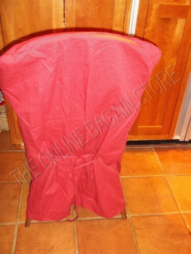 Pottery Barn Twill ARM Tie Chair Dining Slipcover red loose fit PB