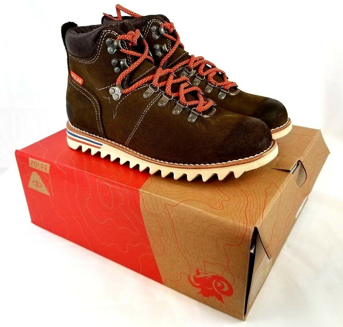 ROCKY Men's X Poler Original Hiker 5  Boots Brown US 10 EU 43 UK 9 CM 28 Z457