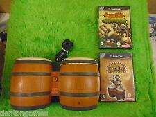 gamecube DONKEY KONG Konga + Jungle Beat + BONGOS Nintendo PAL UK Version
