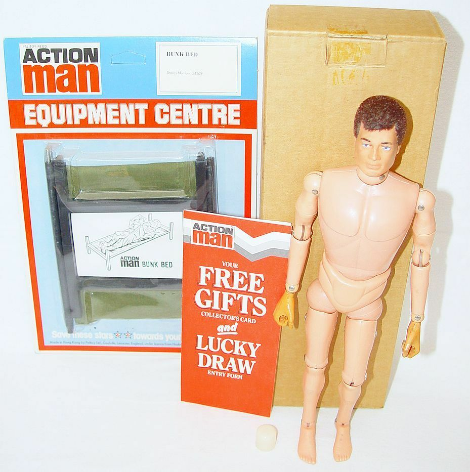 Palitoy 12    ACTION MAN PROMOTIONAL PREMIUM STARS Figure + BED MIB`74 ULTRA RARE  8974b2