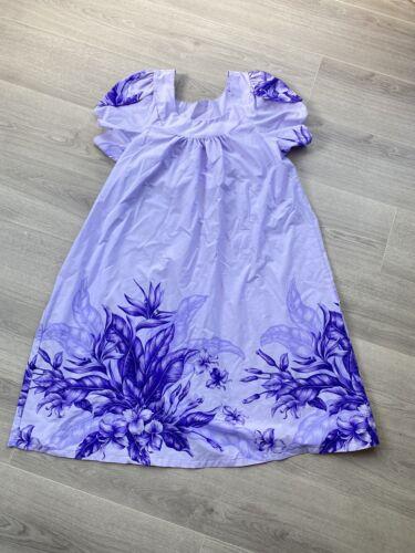VTG Hawaiian Flavor Purple Hawaiian Dress Women's