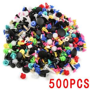 500X-Voiture-En-Garniture-Porte-Panneau-Clips-Rivet-Fixation-Boue-Flaps-Push
