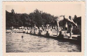 (f27520) Orig. Photo Piscine, Piscine De Plein Air (riesa?) 1930er-afficher Le Titre D'origine Bas Prix