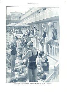 Piscine-Molitor-a-ciel-ouvert-bain-de-soleil-par-Leon-Fauret-ILLUSTRATION-1932