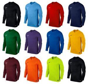 Nike-Garcons-T-Shirt-a-manches-longues-Park-Kids-Football-Shirt-Sports-Training-Shirts