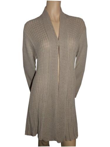 Signore delle donne a Maglia Cascata Cardigan Tops Sweaters Completo Maniche Più Taglie