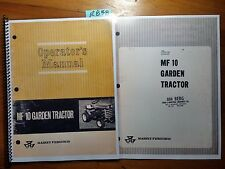 Massey Ferguson MF 10 MF10 Garden Tractor Operator's Owner's Manual + Assembly