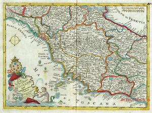 Cartina Geografica Della Toscana.Toscana 1748 E Baeck Machenbauer Carta Geografica Originale Antica Rara Ebay