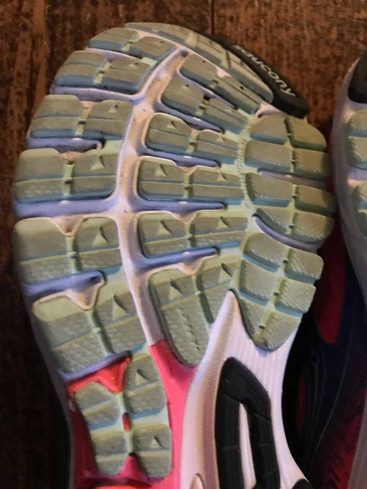 Saucony Ride 8 Mujer rosado Azul Running Zapatos Zapatillas Tamaño Tamaño Tamaño 8 medio utilizado. e82872