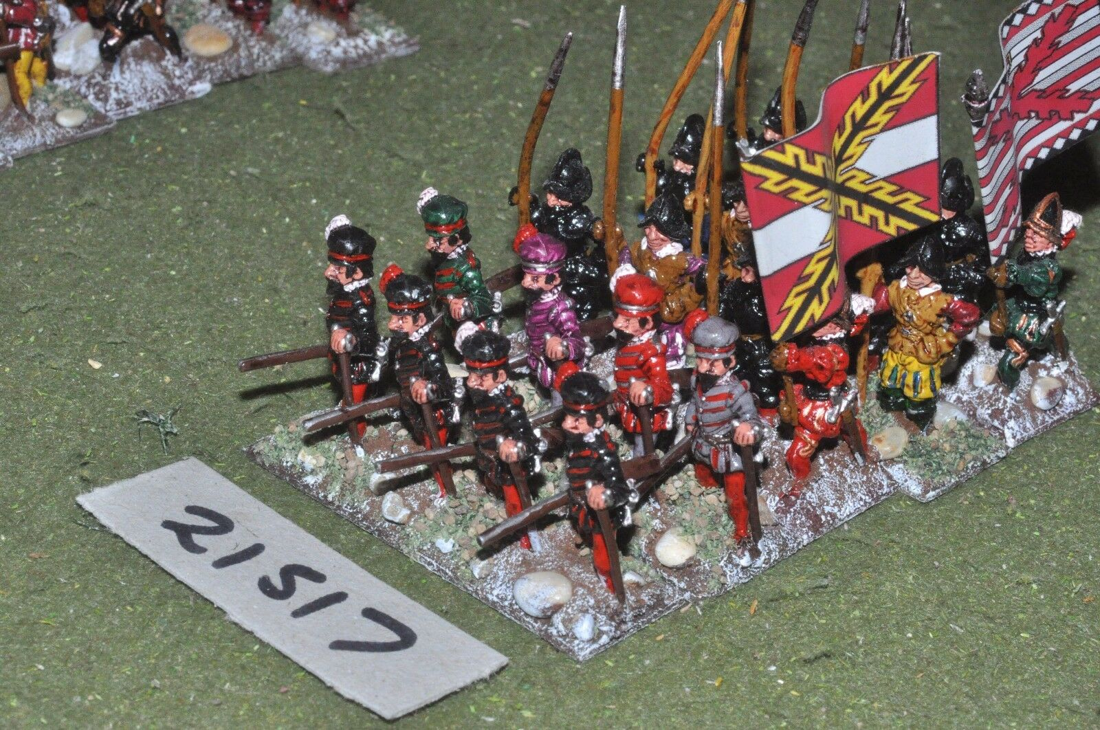 25mm renaissance   spanish - 20 pike & shot infantry - inf (21517)