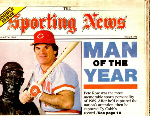 1986 The Sporting News PETE ROSE Cover