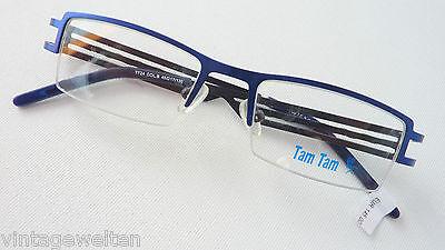 Effizient Brille Metallfassung Klein Herrengestell Kinderbrille Teilrandlos Blau Grösse K